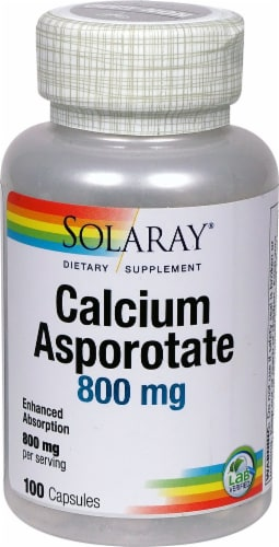 Solaray  Calcium Asporotate Perspective: front