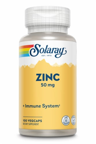 Solaray Zinc Vegetarian Capsules 50 mg Perspective: front