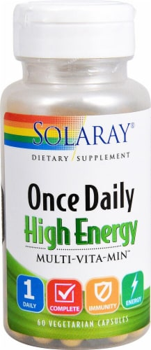 Solaray Once Daily High Energy Multi-Vita-Min Capsules Perspective: front