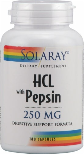 Solaray  HCL with Pepsin Perspective: front