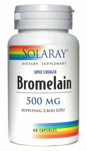 Solaray  Bromelain Perspective: front
