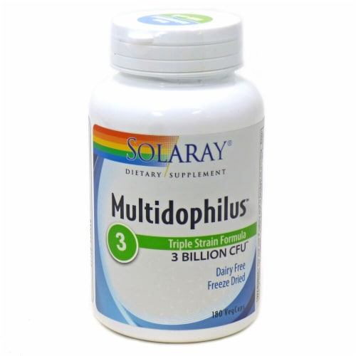 Solaray  Multidophilus™ Dietary Supplement Perspective: front