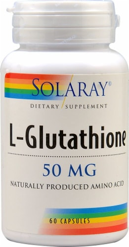 Solaray L-Glutathione Capsules 50 mg Perspective: front