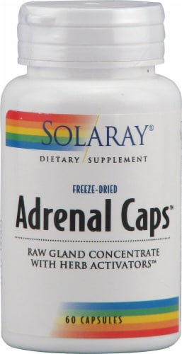 Solaray  Adrenal Caps™ Perspective: front