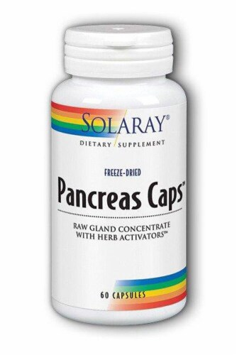 Solaray  Pancreas Caps™ Dietary Supplement Perspective: front