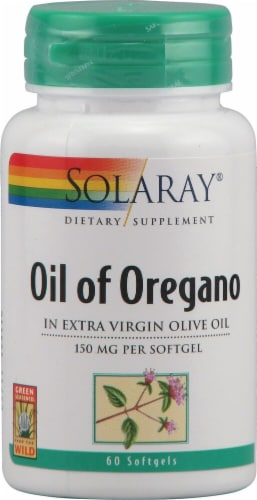 Solaray Oil of Oregano Softgels 150 mg Perspective: front