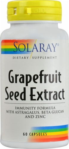 Solaray Grapefruit Seed Extract Immunity Formula Capsules Perspective: front