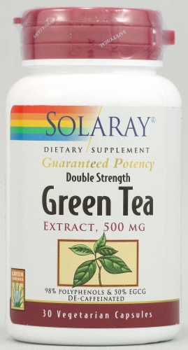 Solaray Green Tea Extract Capsules 500mg Perspective: front