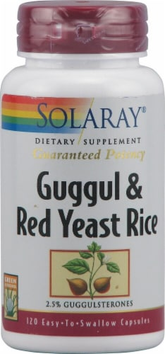 Solaray  Guggul and Red Yeast Rice Perspective: front