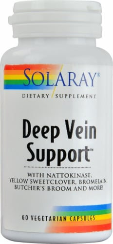 Solaray Deep Vein Support Vegetarian Capsules Perspective: front