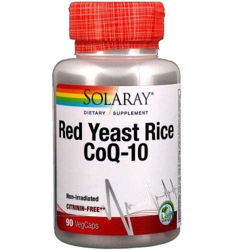 Solaray Red Yeast Rice-CoQ-10 Veg Caps Perspective: front