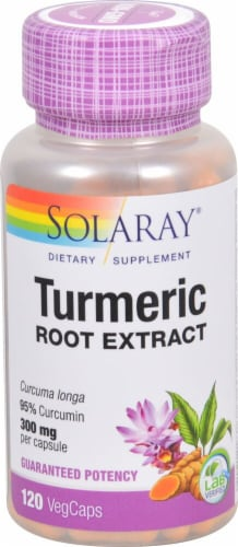 Solaray Turmeric Root Extract Veg Caps 300 mg Perspective: front