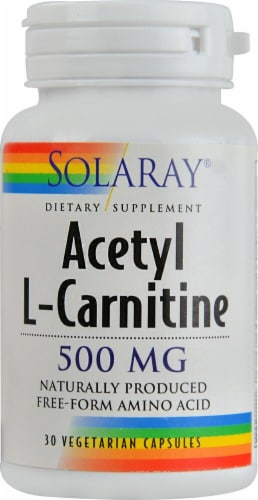 Solaray Acetyl L-Carnitine Capsules 500mg Perspective: front