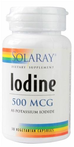 Solaray Iodine Vegetarian Capsules 500 mcg Perspective: front