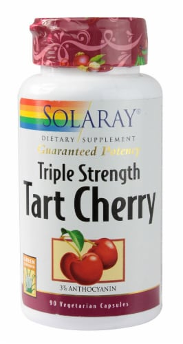 Solaray Triple Strength Tart Cherry Vegetarian Capsules Perspective: front