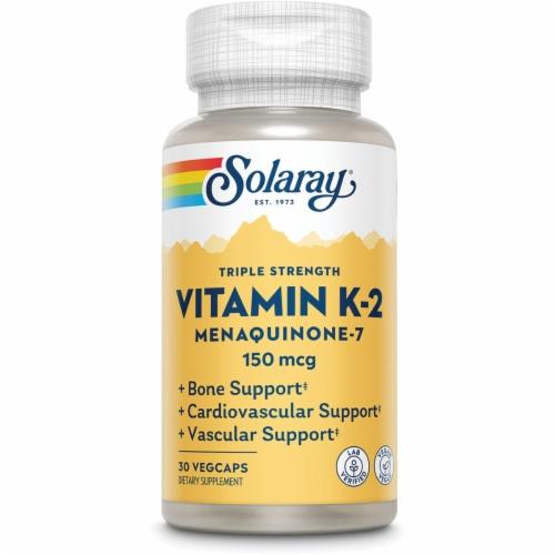 Solaray  Vitamin K-2 Menaquinone-7 Perspective: front