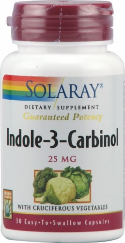 Solaray Indole-3-Carbinol Capsules 25 mg Perspective: front