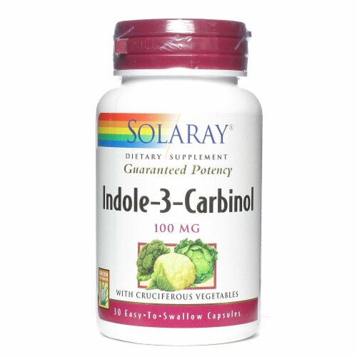 Solaray Indole-3-Carbinol Capsules 100 mg Perspective: front