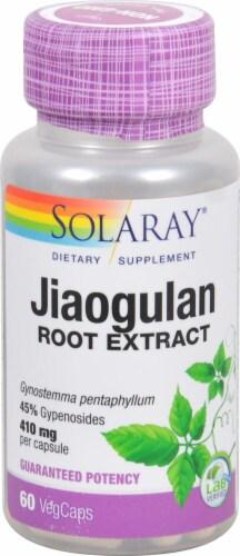 Solaray Jiaogulan Veg Caps 410 mg Perspective: front