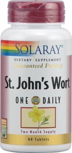 Solaray St John's Wort One Daily Tablets Perspective: front