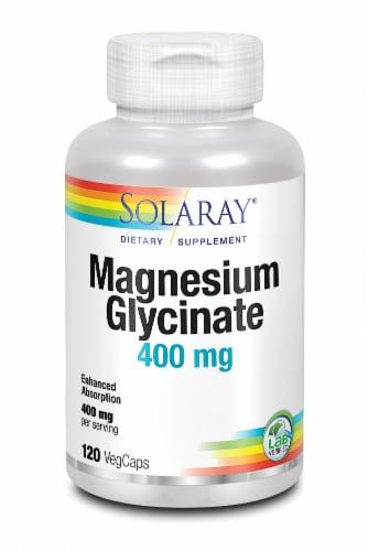 Solaray Magnesium Glycinate VegCaps 400mg Perspective: front