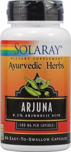 Solaray Arjuna Capsules 500 mg Perspective: front