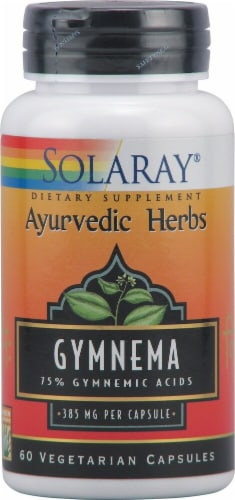 Solaray Gymnema Vegetarian Capsules 385 mg Perspective: front