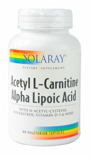 Solaray  Aceteyl L-Carnitine Alpha Lipoic Acid Perspective: front