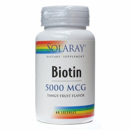 Solaray Biotin Tangy Fruit Flavor Lozenges 5000 mcg Perspective: front
