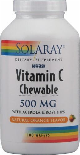 Solaray  Vitamin C Chewable   Orange Perspective: front