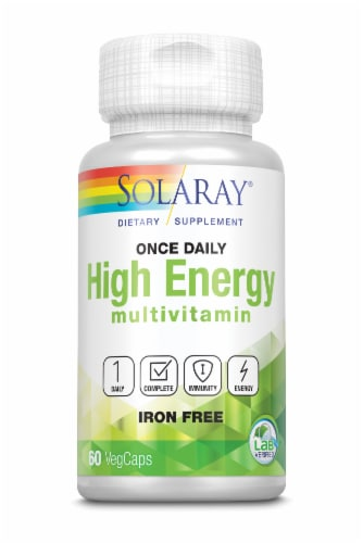 Solaray Once Daily High Energy Multivitamin VegCaps Perspective: front