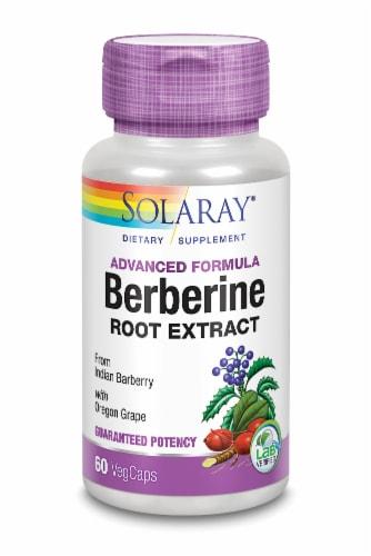 Solaray Advanced Formula Berberine Root Extract VegCaps Perspective: front