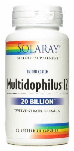 Solaray Multidophilus™ Freeze Dried Vegetarian Capsules Perspective: front