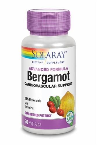 Solaray Bergamot Cardiovascular Support VegCaps Perspective: front