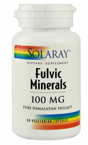 Solaray Fulvic Minerals Vegetarian Capsules 100 mg Perspective: front