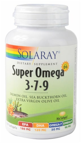 Solaray  Super Omega 3-7-9 with D3 Perspective: front