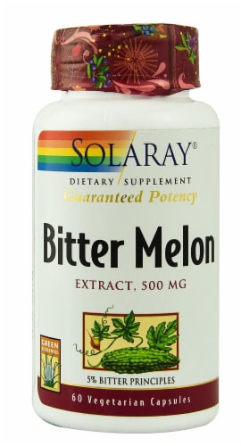 Solaray Bitter Melon Extract Vegetarian Capsules 500 mg Perspective: front