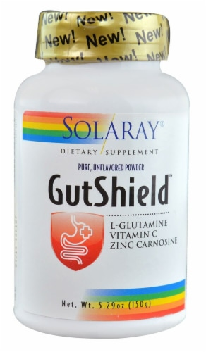 Solaray  GutShield™ Pure Powder   Unflavored Perspective: front