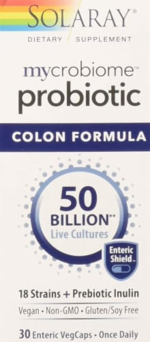 Solaray mycrobiome Probiotic Colon Formula Dietary Supplement Perspective: front