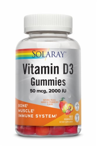 Solaray® Vitamin D3 Gummies Perspective: front