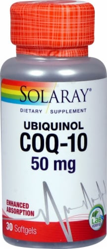 Solaray  Ubiquinol CoQ-10 Dietary Supplement Perspective: front