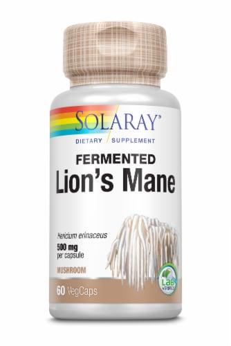 Solaray® Fermented Lion's Mane Mushroom 500mg VegCaps Perspective: front