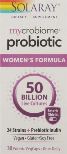 Solaray Mycrobiome Women's Formula Probiotic Enteric VegCaps Perspective: front