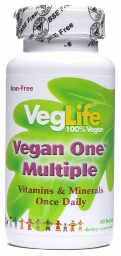 VegLife  Vegan One™ Multiple Iron-Free Perspective: front