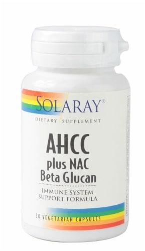 Solaray  AHCC plus NAC Beta Glucan30 Perspective: front