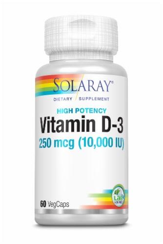 Solaray High Potency Vitamin D-3 VegCaps Perspective: front