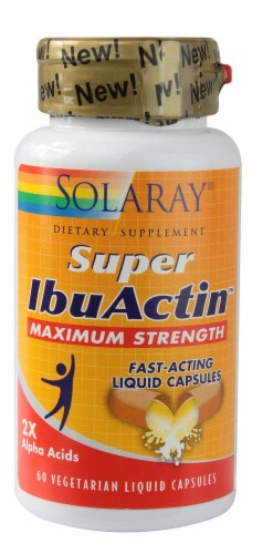 Solaray  Super IbuActin Maximum Strength Perspective: front