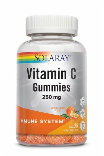 Solaray Vitamin C Orange Flavor Gummies Perspective: front