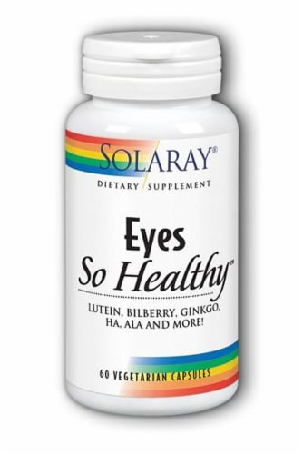 Solaray Eyes So Healthy™ Dietary Supplement Vegetarian Capsules Perspective: front