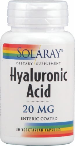 Solaray Hyaluronic Acid Vegetarian Capsules 20 mg Perspective: front